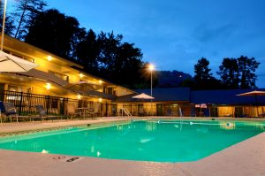 outdoor pool at Jack Huff's Motor Lodge